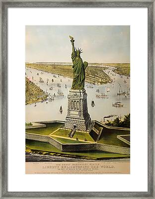 The Great Bartholdi Statue Framed Print by Mountain Dreams