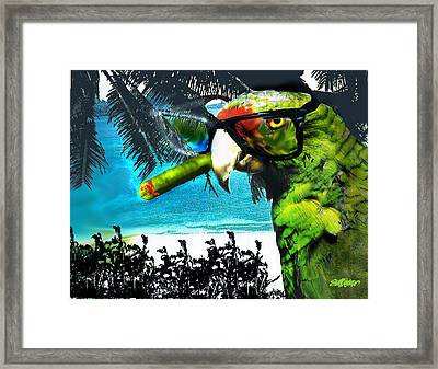 Framed Print featuring the digital art The Great Bird Of Casablanca by Seth Weaver
