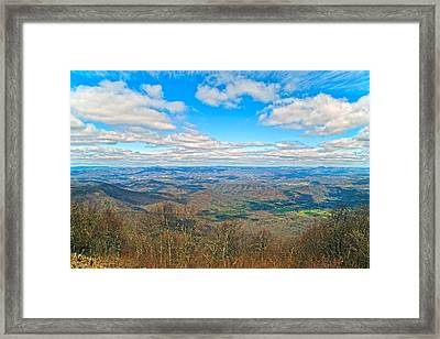 The Great Blue Ridge Parkway Framed Print