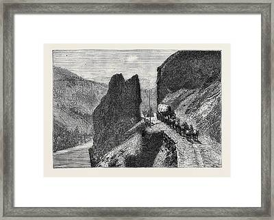The Great Bluff On The Thompson River Framed Print