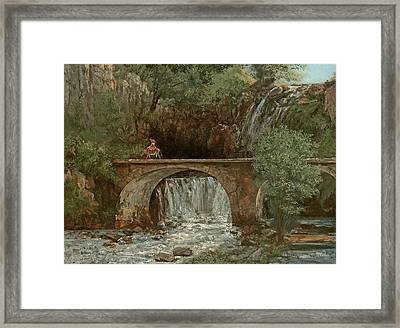 The Great Bridge, 1864 Framed Print by Gustave Courbet