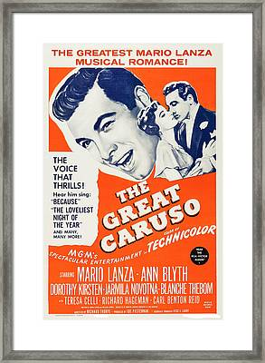 The Great Caruso, Us Poster Art, Mario Framed Print by Everett
