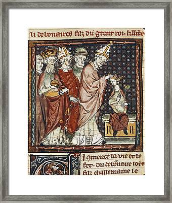 The Great Chronicles Of France 14th C Framed Print