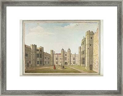 The Great Court At Cowdray Framed Print by British Library