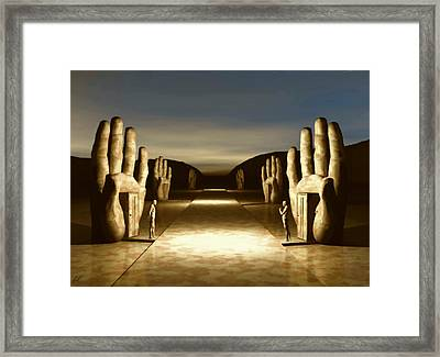 Framed Print featuring the digital art The Great Divide by John Alexander