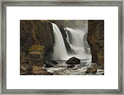 The Great Falls Framed Print by Stephen  Vecchiotti