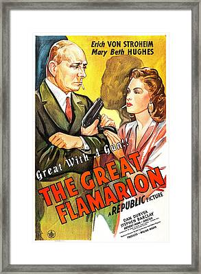 The Great Flamarion, Us Poster Framed Print