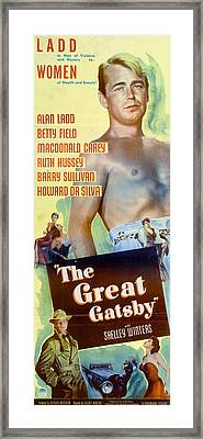 The Great Gatsby 1949 Framed Print by Georgia Fowler