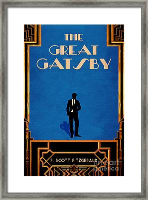 The Great Gatsby Book Cover Movie Poster Art 1 Framed Print