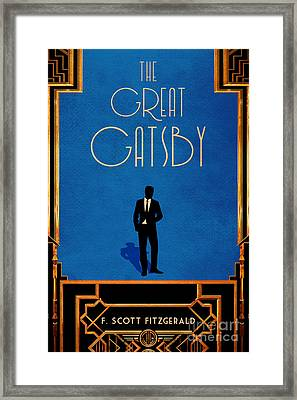 The Great Gatsby Book Cover Movie Poster Art 2 Framed Print
