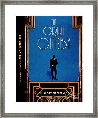 The Great Gatsby Book Cover Movie Poster Art 5 Framed Print by Nishanth Gopinathan