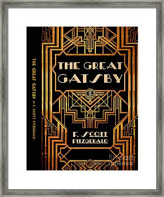 The Great Gatsby Book Cover Movie Poster Art 6 Framed Print