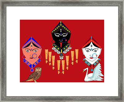 The Great Goddesses Framed Print by Pratyasha Nithin
