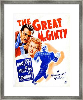 The Great Mcginty Aka Down With Framed Print
