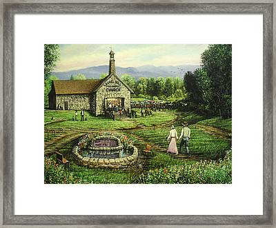 The Great Meeting Framed Print