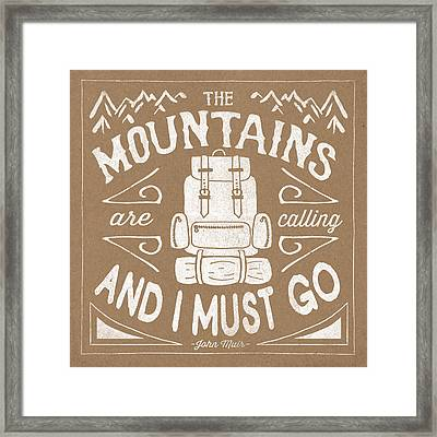 The Great Outdoors Ix Framed Print by Laura Marshall