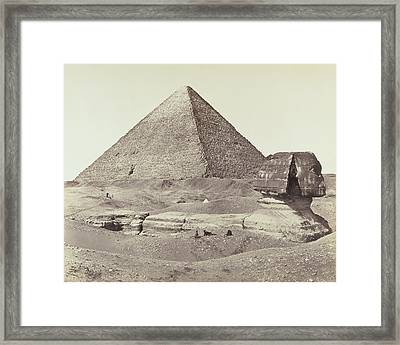 The Great Pyramid And The Sphinx Francis Frith Framed Print by Litz Collection
