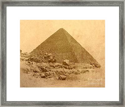 Framed Print featuring the photograph The Great Pyramid by Nigel Fletcher-Jones