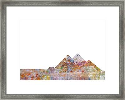 The Great Pyramids Colorsplash Framed Print by Aimee Stewart