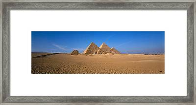 The Great Pyramids Giza Egypt Framed Print by Panoramic Images
