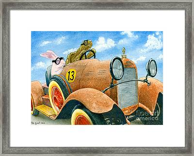 The Great Race... Framed Print by Will Bullas