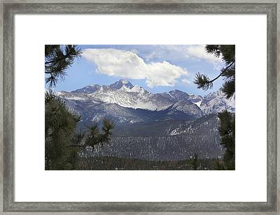 The Rocky Mountains - Colorado Framed Print by Mike McGlothlen
