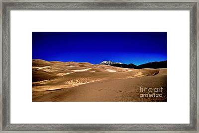 The Great Sand Dunes1 Framed Print by Claudette Bujold-Poirier