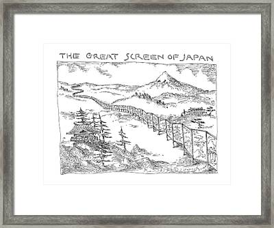 The Great Screen Of Japan Framed Print by John O'Brien