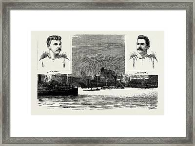 The Great Sculling Match On The Thames Between Searle Framed Print by Litz Collection