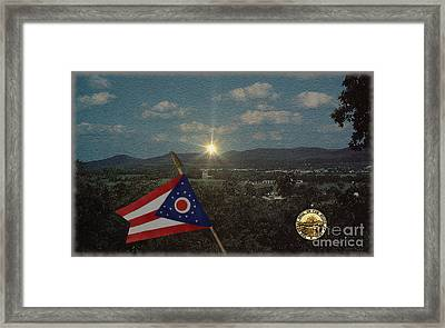 The Great Seal Of Ohio View Framed Print by Charles Robinson