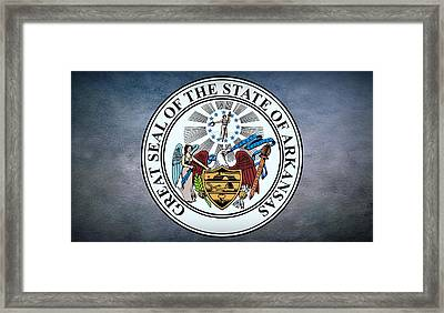 The Great Seal Of The State Of Arkansas Framed Print