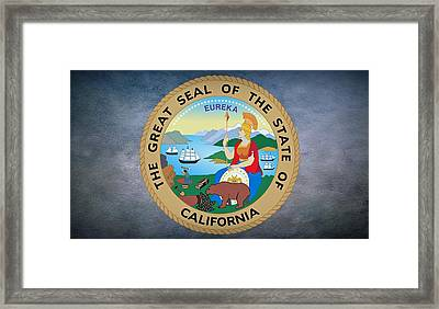 The Great Seal Of The State Of California Framed Print