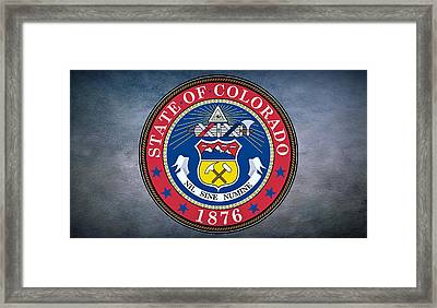 The Great Seal Of The State Of Colorado Framed Print by Movie Poster Prints