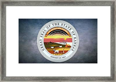 The Great Seal Of The State Of Kansas  Framed Print by Movie Poster Prints