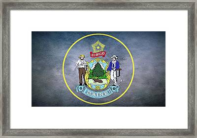 The Great Seal Of The State Of Maine  Framed Print by Movie Poster Prints