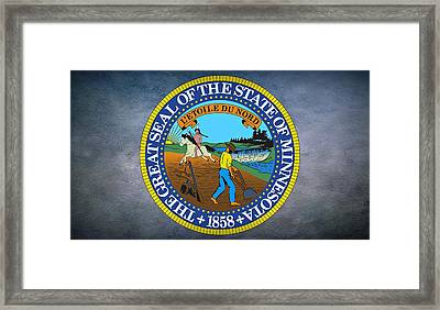 The Great Seal Of The State Of Minnesota Framed Print by Movie Poster Prints