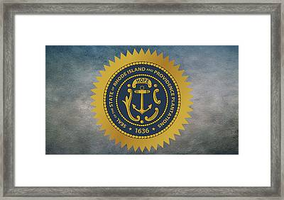 The Great Seal Of The State Of Rhode Island Framed Print by Movie Poster Prints