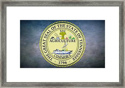 The Great Seal Of The State Of Tennessee Framed Print by Movie Poster Prints