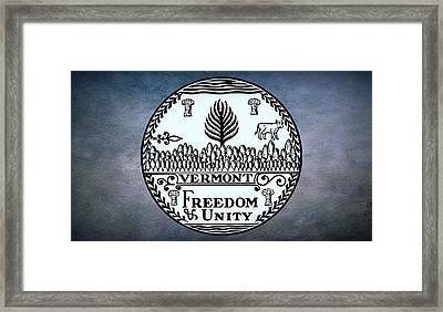 The Great Seal Of The State Of Vermont Framed Print