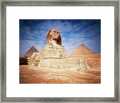 The Great Sphinx Chefren & Cheops Framed Print