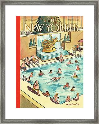 The Great Thaw Framed Print by Marcellus Hall
