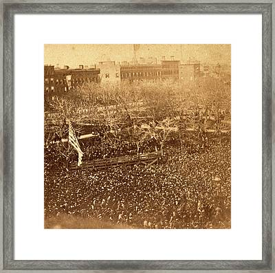 The Great Union Meeting In Union Square, New York Framed Print
