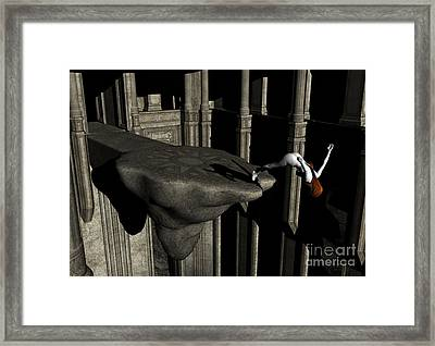 The Great Unknown - Surrealism Framed Print by Sipo Liimatainen
