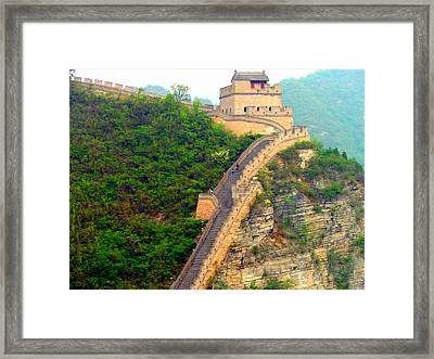 Framed Print featuring the photograph The Great Wall 2 by Kay Gilley