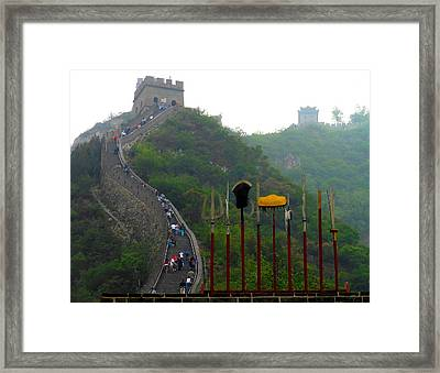 Framed Print featuring the photograph The Great Wall by Kay Gilley
