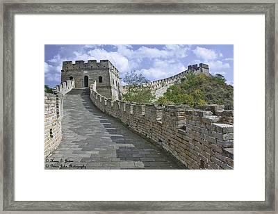 The Great Wall Of China At Mutianyu 1 Framed Print