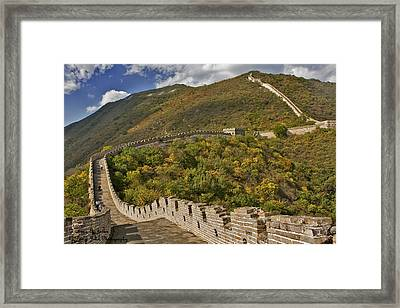 The Great Wall Of China At Mutianyu 2 Framed Print