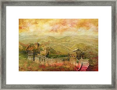 The Great Wall Of China Framed Print by Catf