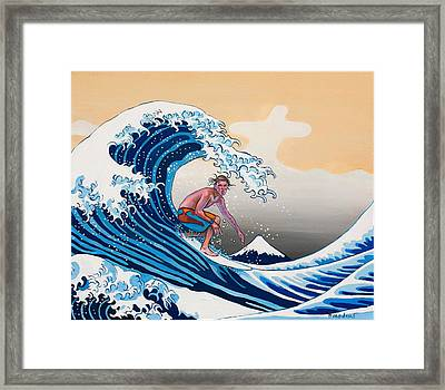 The Great Wave Amadeus Series Framed Print by Dominique Amendola