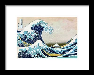 Thirty-six Views Of Mount Fuji Framed Prints